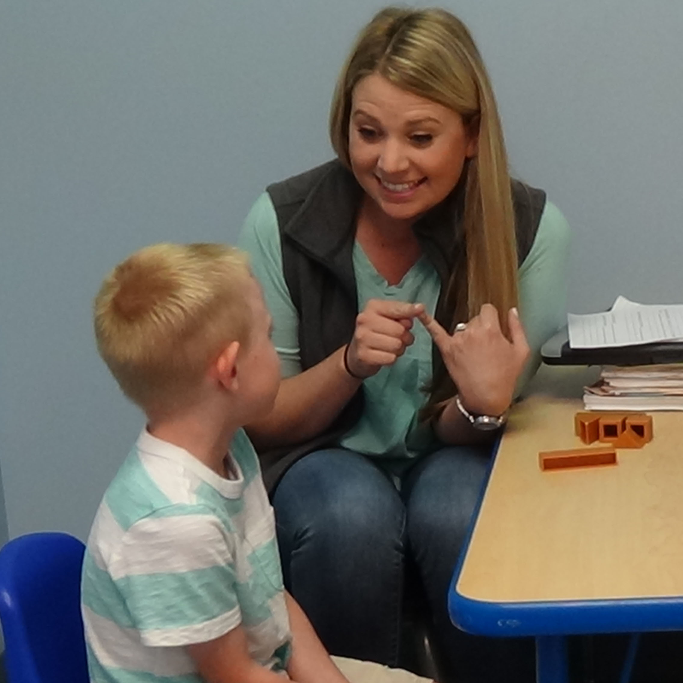 Speech Therapist and Child