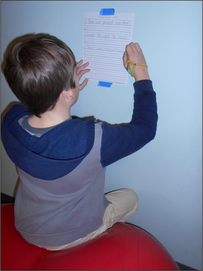 Child Writing in Therapy
