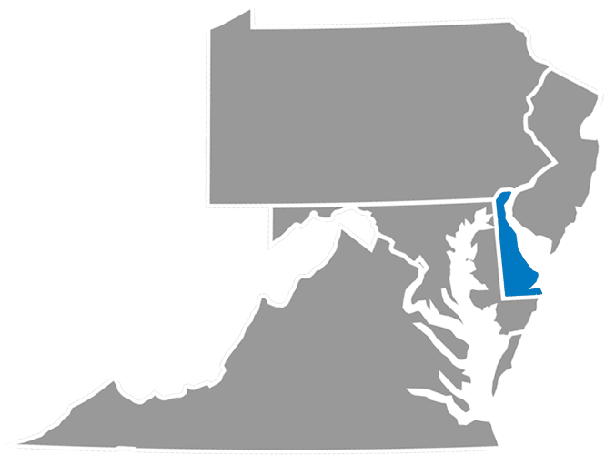 PA, VA, DE, NJ Map